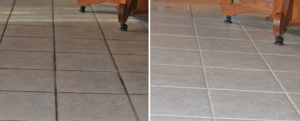 Steaming tile floors